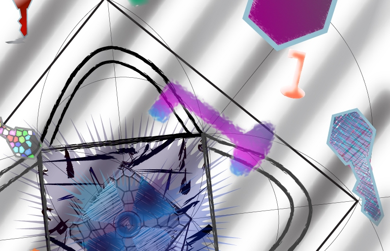 Hardship Mandala with GeometryShown